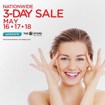 Watsons Nationwide 3-Day Sale May 2014