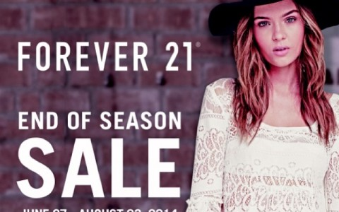Forever 21 End of Season Sale June - August 2014