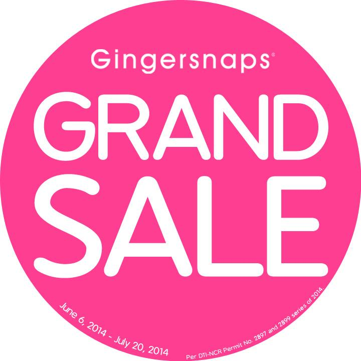 Gingersnaps Grand Sale June - July 2014