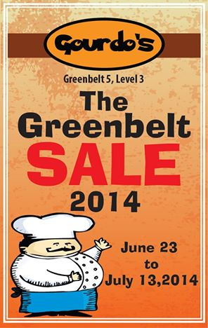 Gourdo's Sale @ Greenbelt June - July 2014