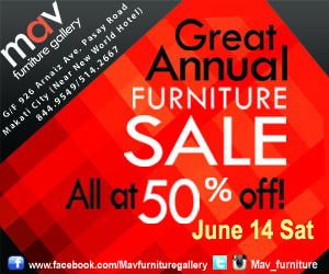MAV Furniture Gallery The Great Annual Sale June 2014
