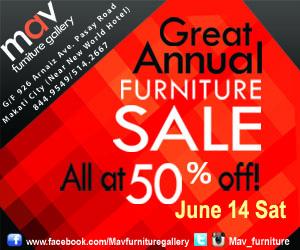 MAV Furniture Gallery The Great Annual Sale June 2014