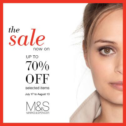 Marks & Spencer End of Season Sale - Further Reductions July - August 2014