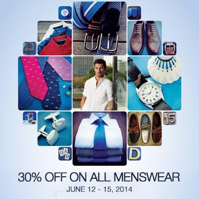 Marks & Spencer Menswear Sale June 2014
