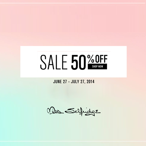 Miss Selfridge End of Season Sale June - July 2014