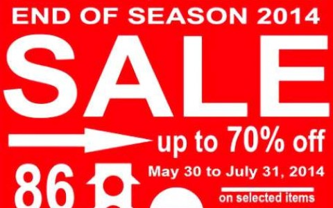 Mossimo End of Season Sale June - July 2014