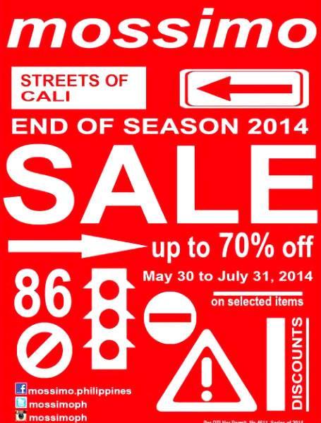 Mossimo End of Season Sale June - July 2014