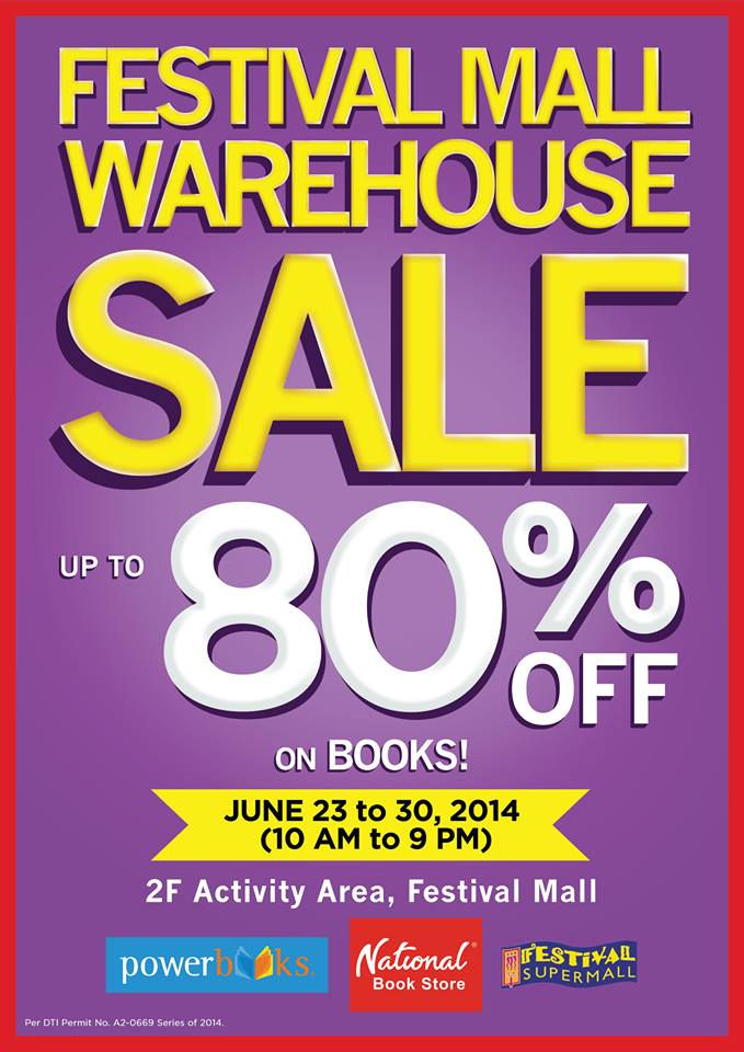 National Book Store Warehouse Sale @ Festival Mall June 2014