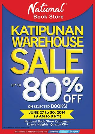 National Book Store Warehouse Sale @ NBS Katipunan June 2014