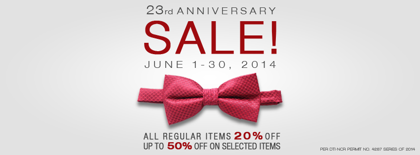 Onesimus Anniversary Sale June 2014