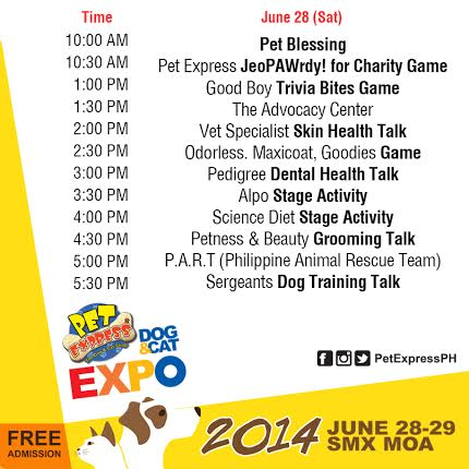 Pet Express Dog & Cat Expo 2014 Schedule of Activities Day 1