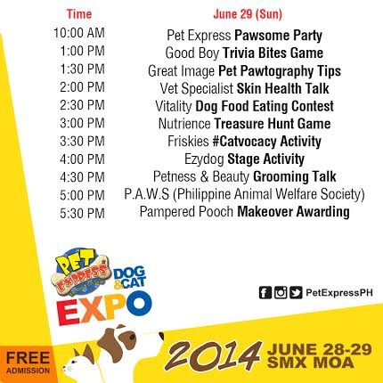 Pet Express Dog & Cat Expo 2014 Schedule of Activities Day 2