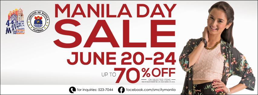 SM City Manila's Manila Day Sale June 2014