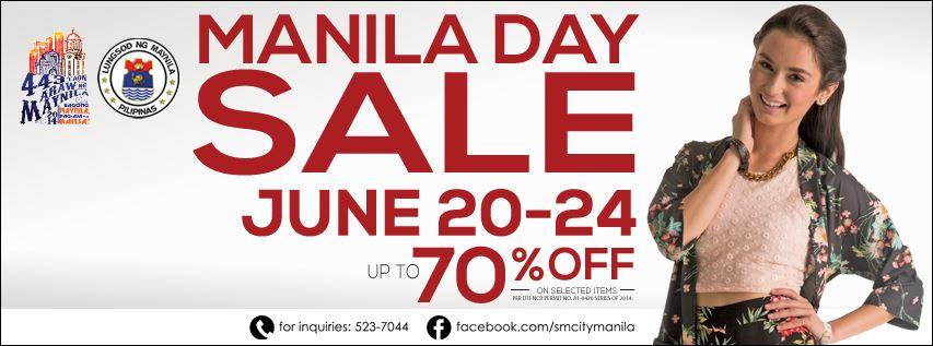 SM City Manila's Manila Day Sale June 2014