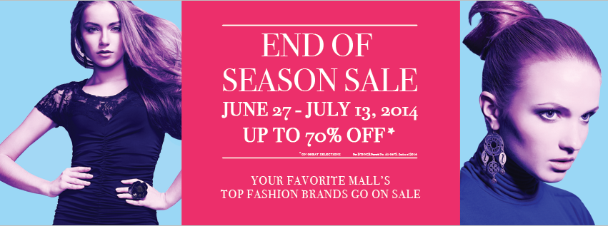 SM Mall of Asia End of Season Sale June - July 2014