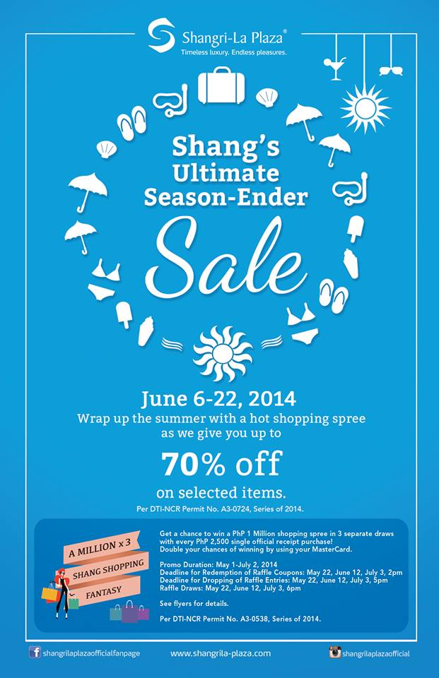 Shangri-La Plaza Mall Ultimate Season Ender Sale June 2014