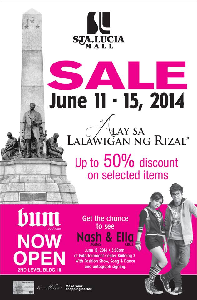Sta. Lucia Mall Sale June 2014