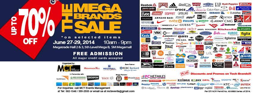 The Mega Brands Sale @ SM Megatrade Hall June 2014