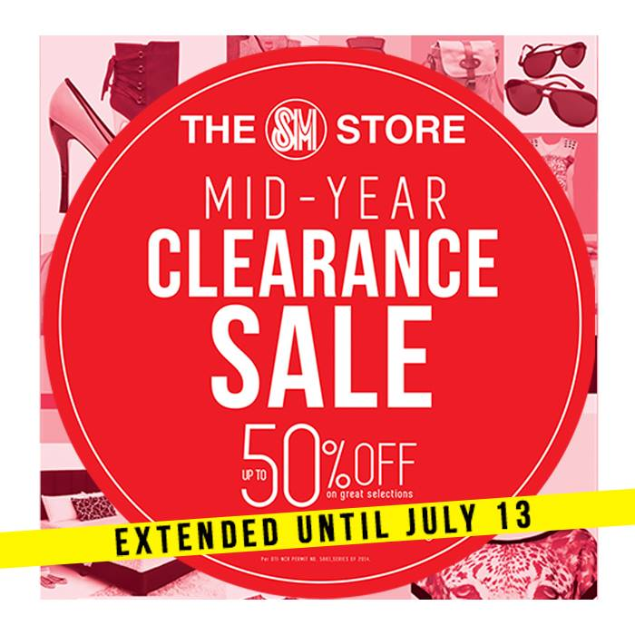 The SM Store Mid-Year Clearance Sale June - July 2014