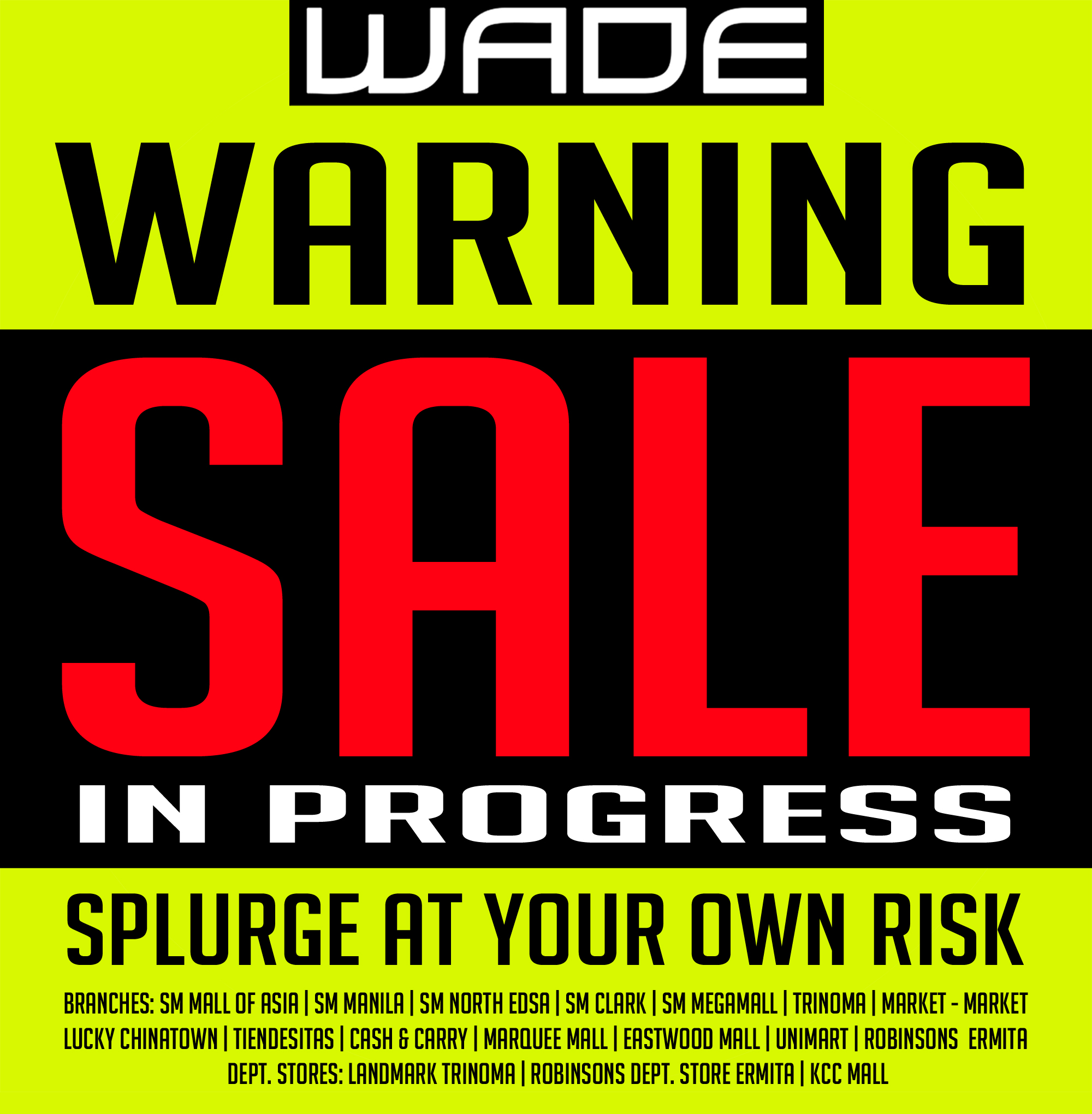 Wade Shoes and Accessories End of Season Sale May - August 2014
