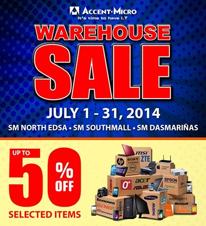 Accent Micro Warehouse Sale July 2014