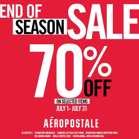 Aeropostale End of Season Sale July 2014