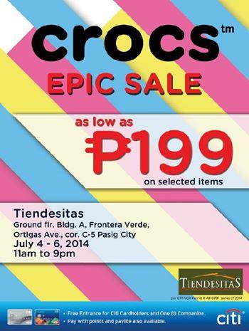 Crocs Epic Sale @ Tiendesitas July 2014