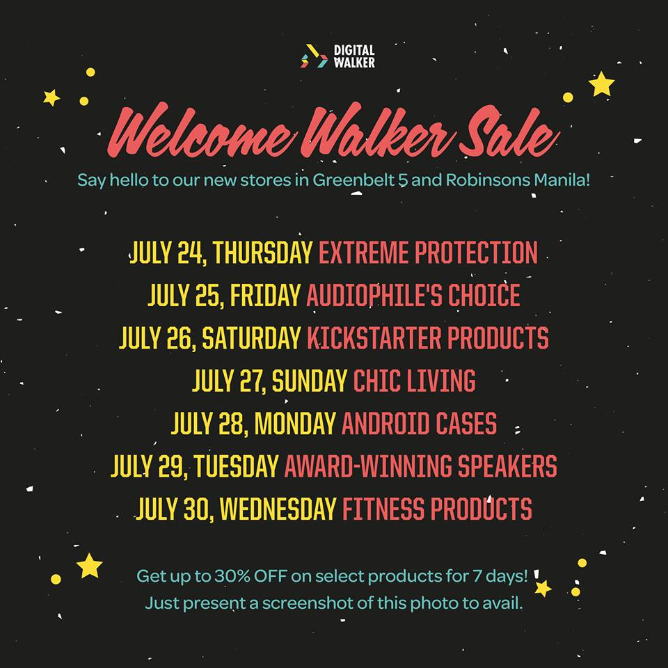 Digital Walker Welcome Walker Sale @ Greenbelt 5 & Robinsons Manila July 2014