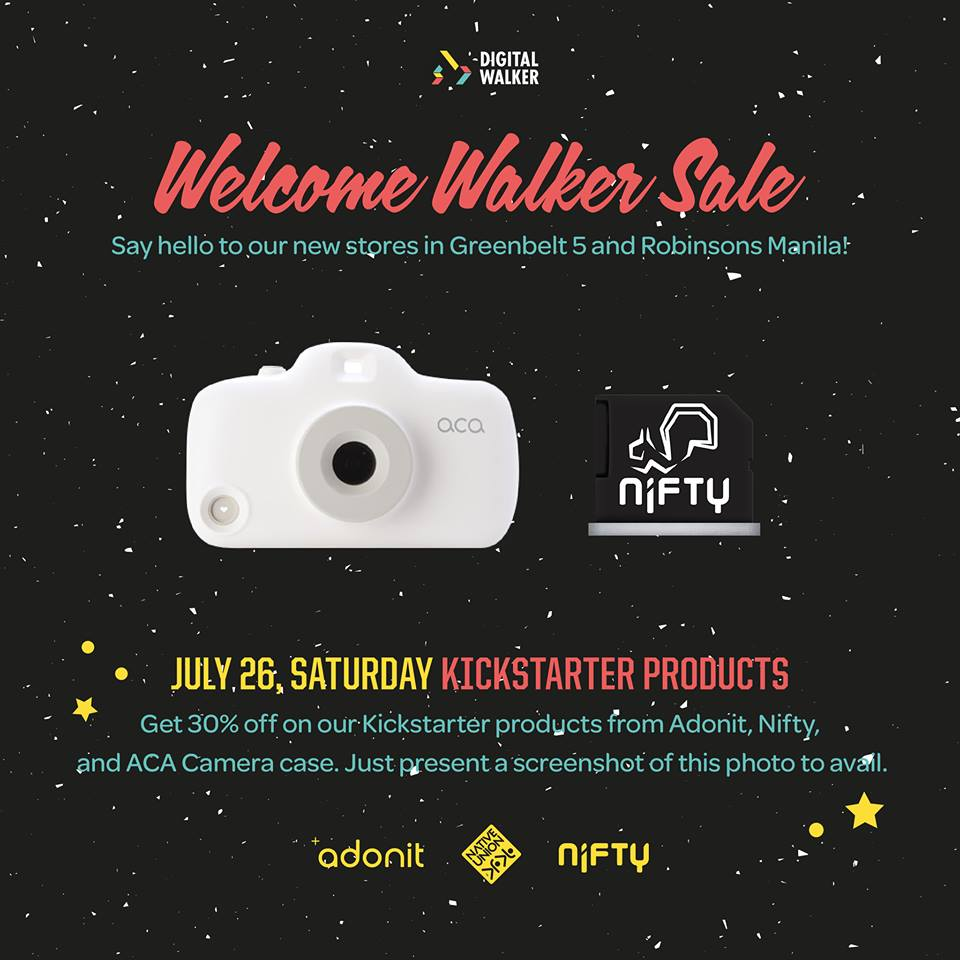 Digital Walker Welcome Walker Sale - Kickstarter Products