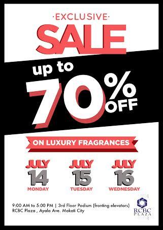 Fragrance Sale @ RCBC Plaza July 2014