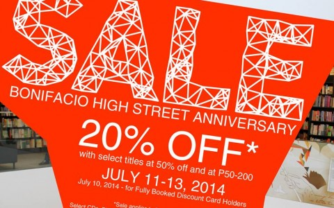 Fully Booked Anniversary Sale @ Bonifacio High Street July 2014