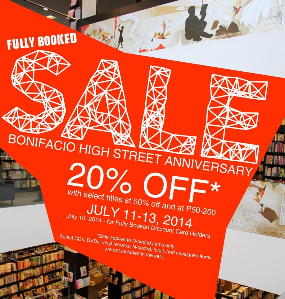 Fully Booked Anniversary Sale @ Bonifacio High Street July 2014