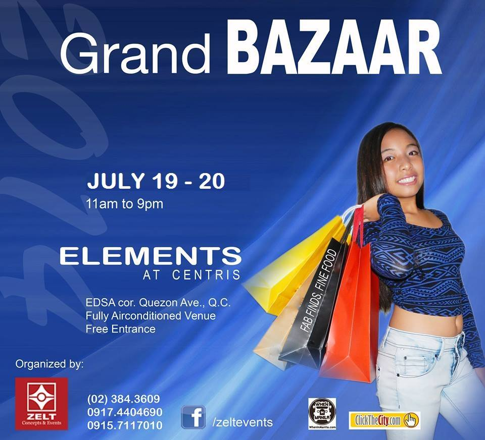 Grand Bazaar @ Elements Tent July 2014