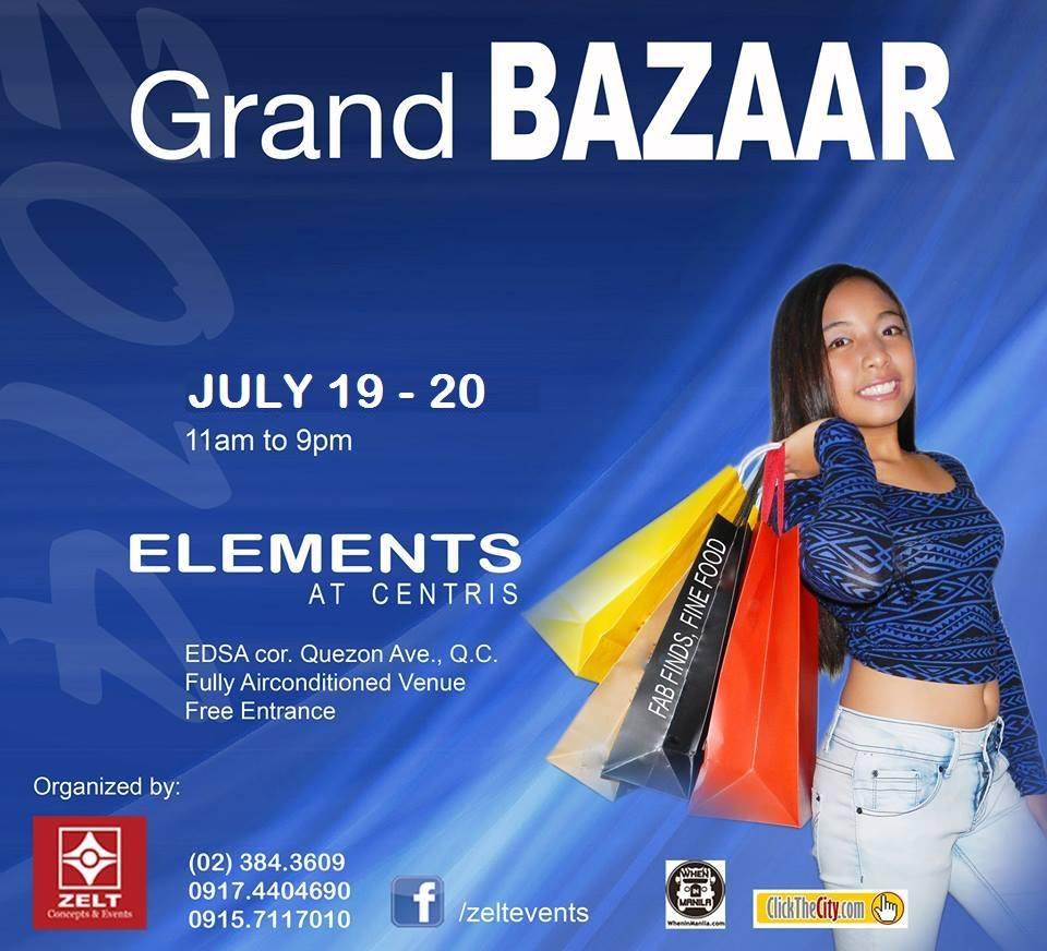 Grand Bazaar @ Elements Tent July 2014