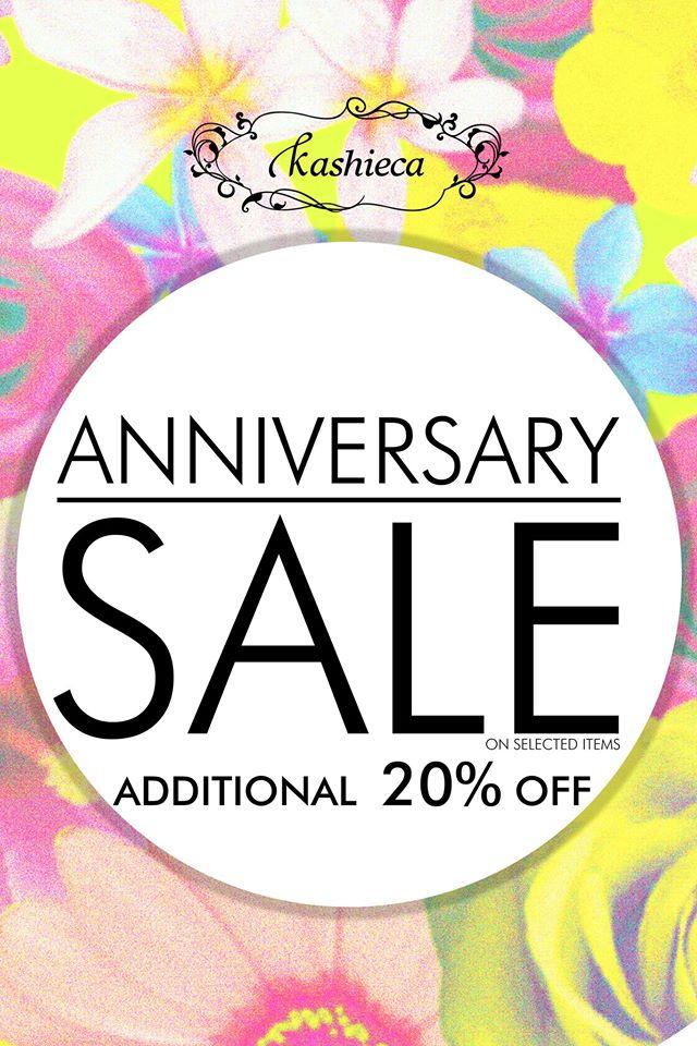 Kashieca Anniversary Sale July - August 2014