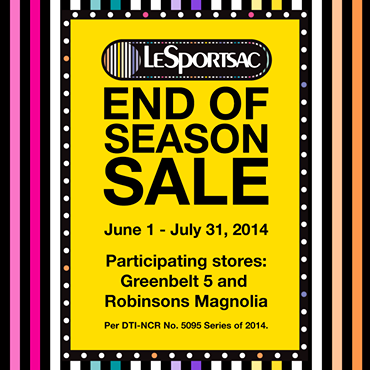 Le Sportsac End of Season Sale July 2014