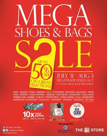 Mega Shoes & Bags Sale @ SM Megatrade Hall July - August 2014