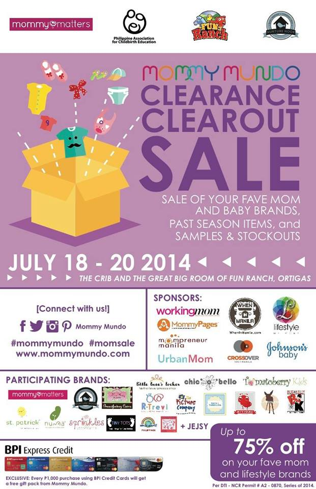 Mommy Mundo Clearance Clearout Sale @ Fun Ranch July 2014