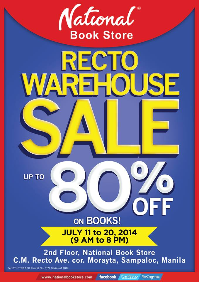 National Book Store Warehouse Sale @ NBS Recto July 2014