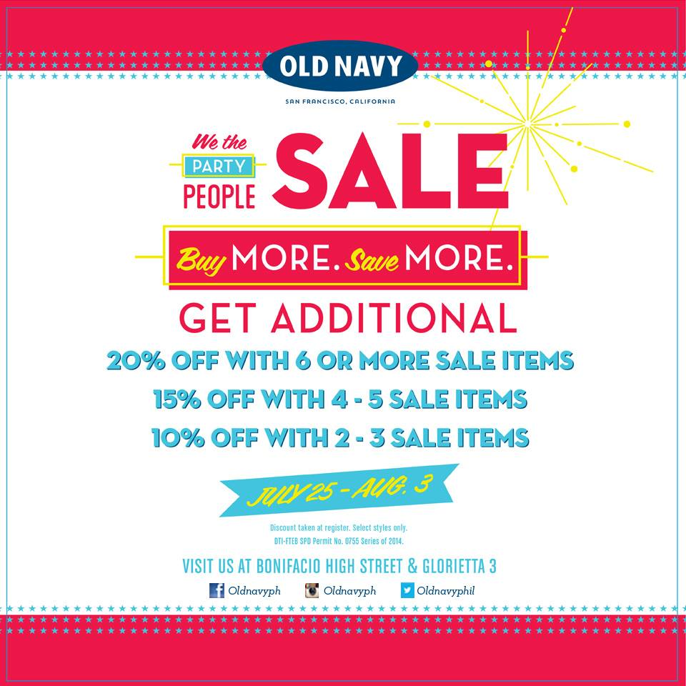 Old Navy We The Party Sale July - August 2014