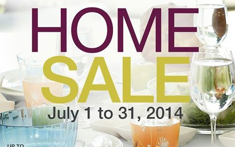 Robinsons Department Store Home Sale July 2014