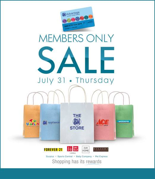 SM Advantage Card Members Only Sale July 2014