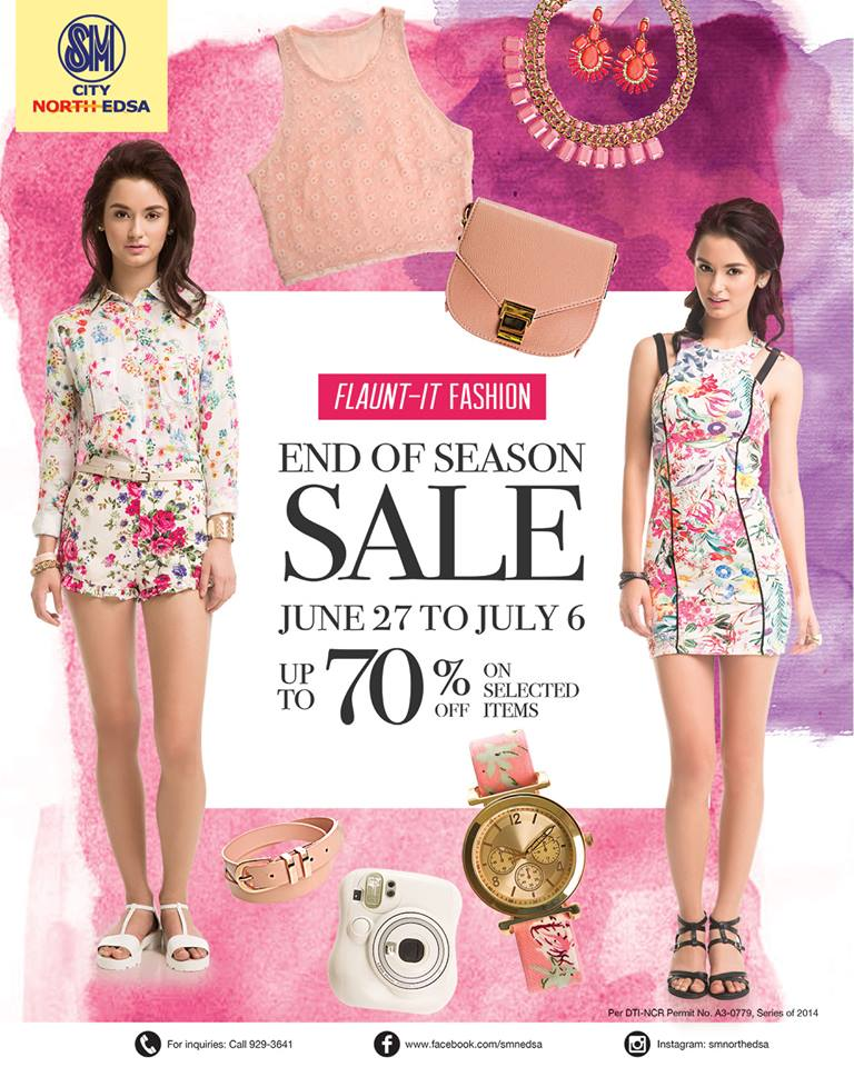 SM City North Edsa End of Season Sale June - July 2014