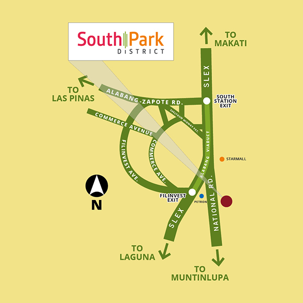 South Park District location map