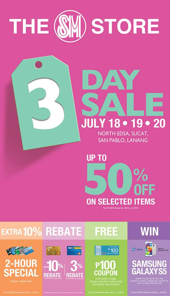 The SM Store 3-Day Sale July 2014