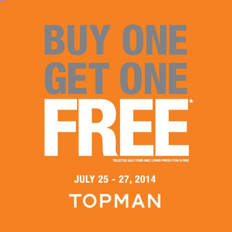 Topman Buy 1 Get 1 Free Promo July 2014