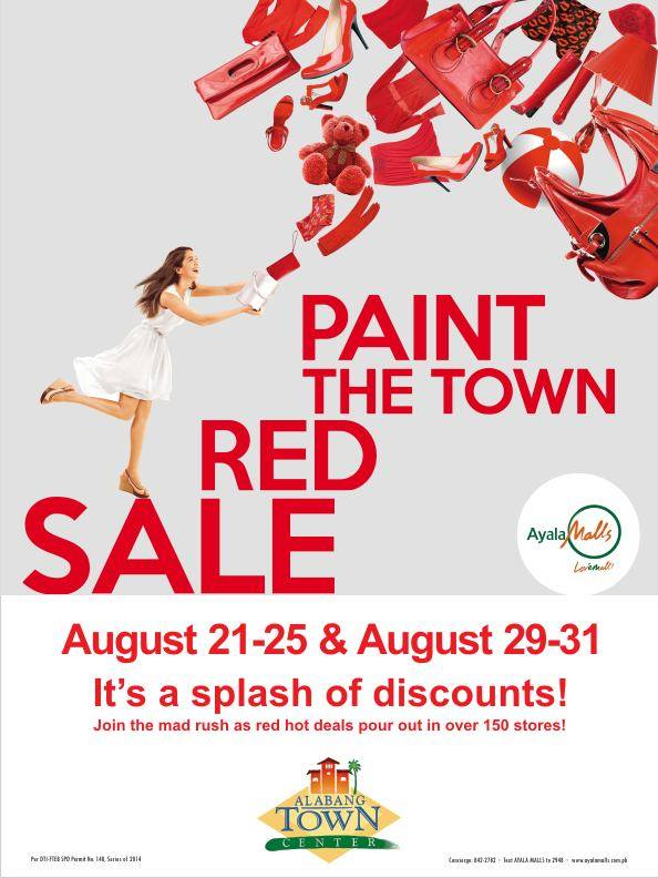 Alabang Town Center Paint The Town Red Sale August 2014