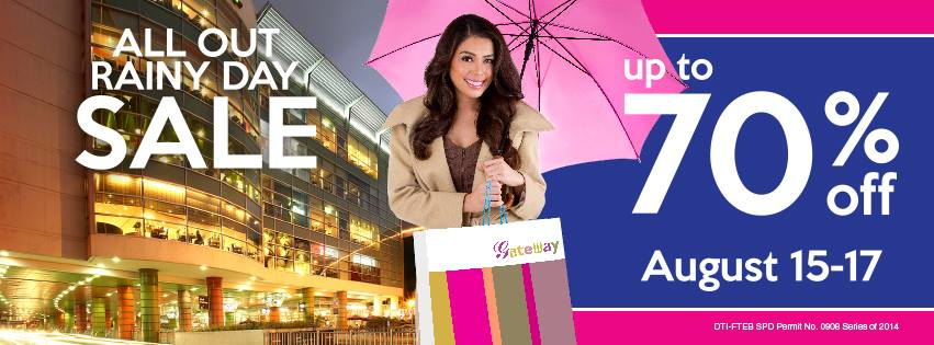 Araneta Center All Out Rainy Sale August 2014