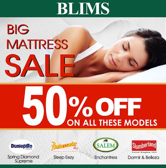 BLIMS Big Mattress Sale August - October 2014