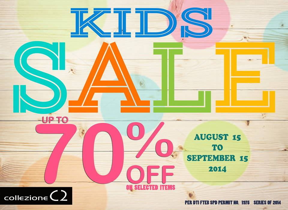 Collezione C2 Kids Sale August - September 2014